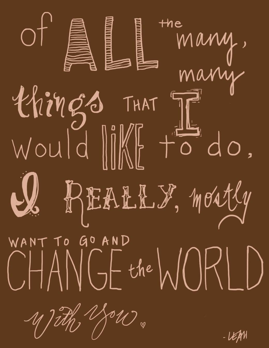 changetheworld